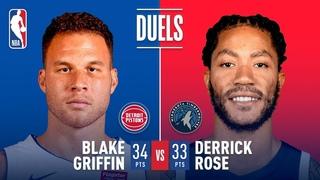 Blake Griffin And Derrick Rose DUEL In Minnesota! | December 19, 2018