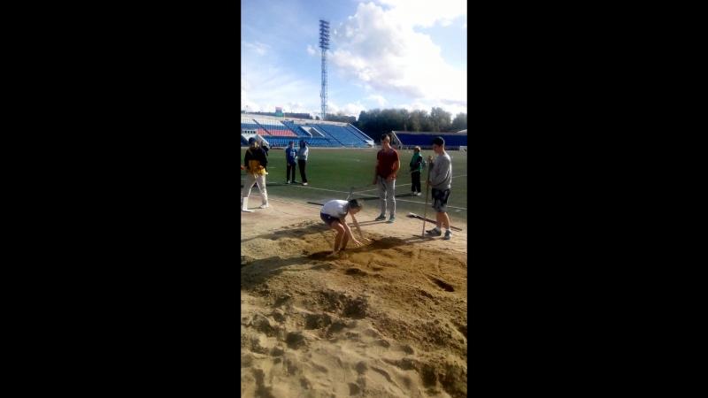 Шиповка юных СЗФО (г. Петрозаводск) - прыжок в длину. Александра Герасимова