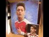 Портрет кумира в подарок имениннику👍🏻🎁 На картине игрок сборной Германии и Арсенала Месут Озил.