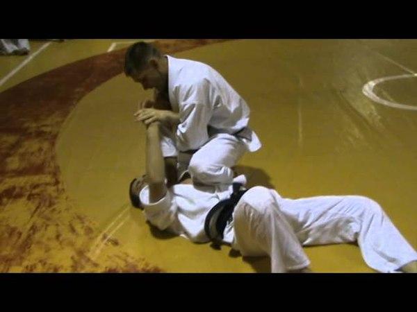 Бушинкан Дзю Дзюцу - ката выходов на болевой на локоть сидячи. (Bushinkan Jiu Jitsu)