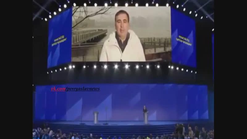 Саакашвили выступил в поддержку Тимошенко.