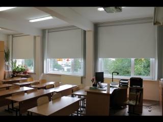Рулонные шторы ткань Альфа Алю Блэкаут школа Софьи Ковалевской 16к6