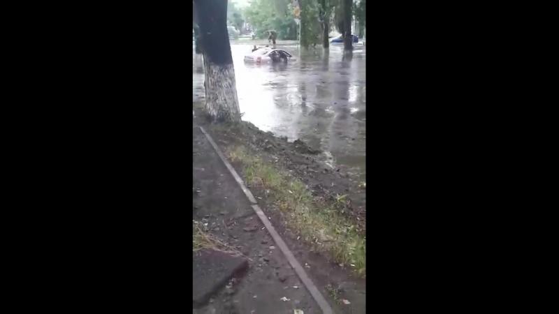 Последствия дождя на Климасенко