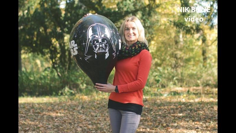Vanja pustet vier spannende Luftballons - Star Wars, CA - auf und führt sie spazieren ... NoPop