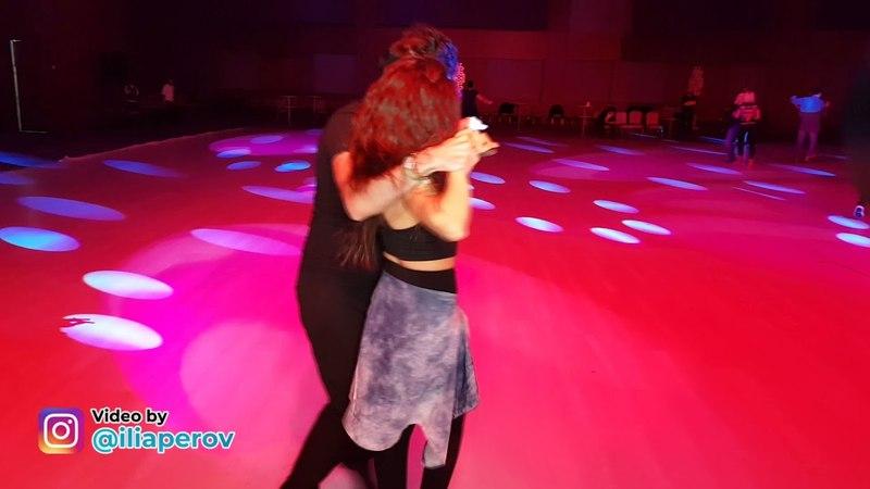 Işıl Özbek and man Social dancing at Istanbul Dance Festival, friday 30032018
