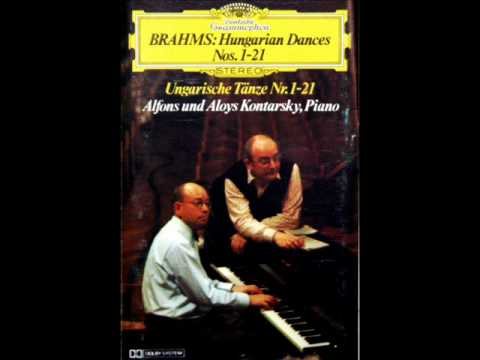 Alfons und Aloys Kontarsky Hungarian Dance No. 2 in D minor (Brahms) - Piano Four Hands