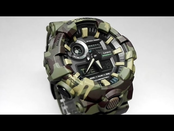 Casio G-Shock GA-700CM-3A camouflage watch video 2018