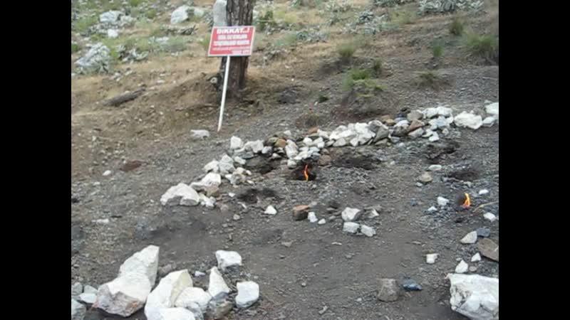 горящая гора Химера (Chimaera) – или по-турецки Янарташ (Yanartas)
