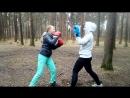Тренировка по Ушу в Сосновке Петербург Отработка двойки руками с уклоном