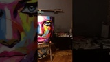 Firefly, 80x80 см, масло, флуоресцентный пигмент, холст