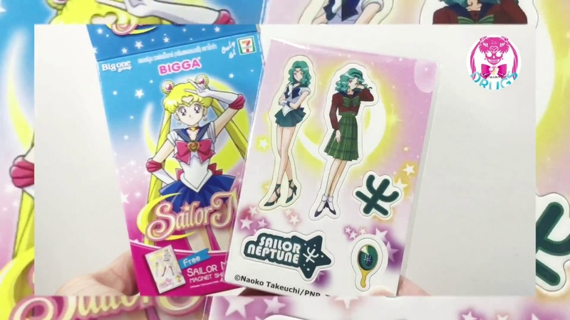 💀UNBOX! Sailor Moon Bigga Magnet Sheet from Thailand 7-11 convince Store