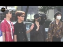Fanboy seokjin hyung seokjin wave to him plus his laugh at the