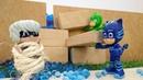 Pj Maskeliler oyuncakları Aykız okul servisini deviriyor