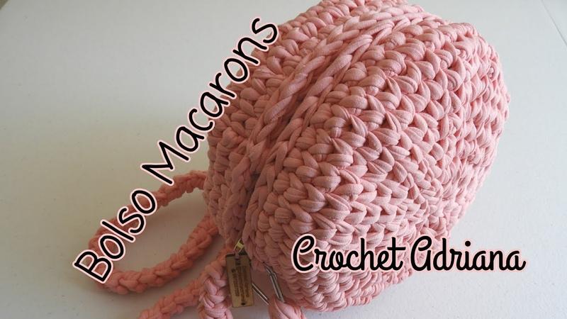 Bolsomacarons macarons trapillo macarrones  Bolso Macarons trapillo / Crochet