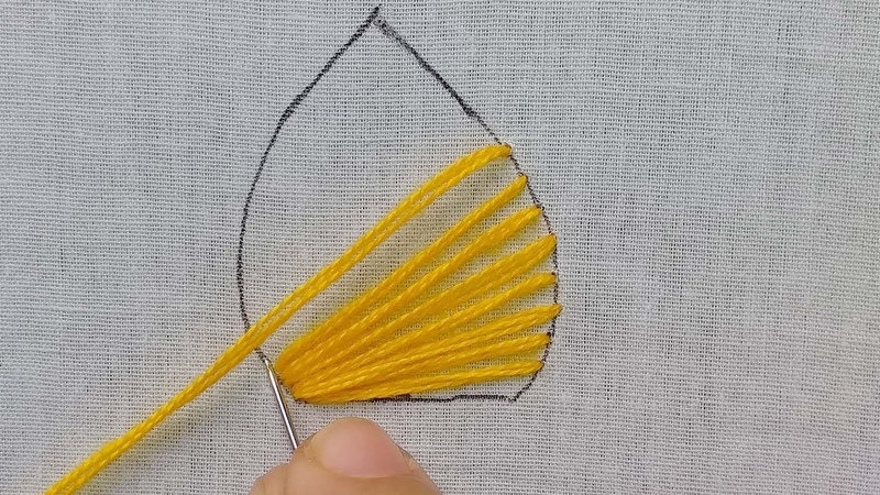 Amazing Hand Embroidery | Brazilian Embroidery Sewing Hack | Amazing Leaf Design.