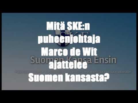 Mitä SKE:n puheenjohtaja ajattelee Suomen kansasta?