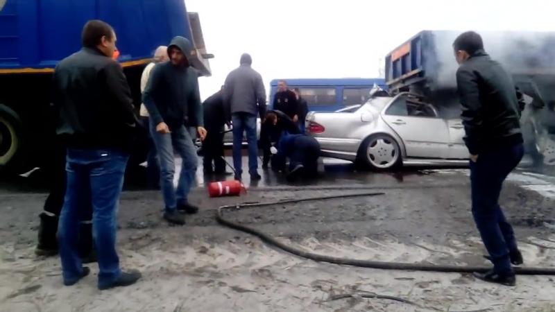 E55 AMG под КАМАЗом. _ ДТП, автомобильные аварии
