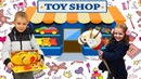 Nikita with Nikol doing shopping in a toy store / Kid Shopping
