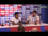 Сборная Англии по футболу проводит пресс-конференцию после победы в первом матче на ЧМ-2018
