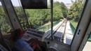 Het uitzicht vanuit de cabine - De kabelbaan Petrin - Praag