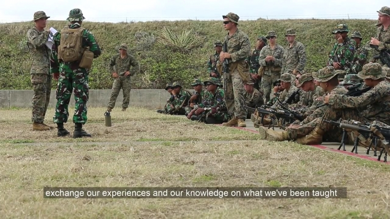 Indonesian Marines Train With Kilo Company During Exercise Bougainville I, MARINE CORPS BASE HAWAII