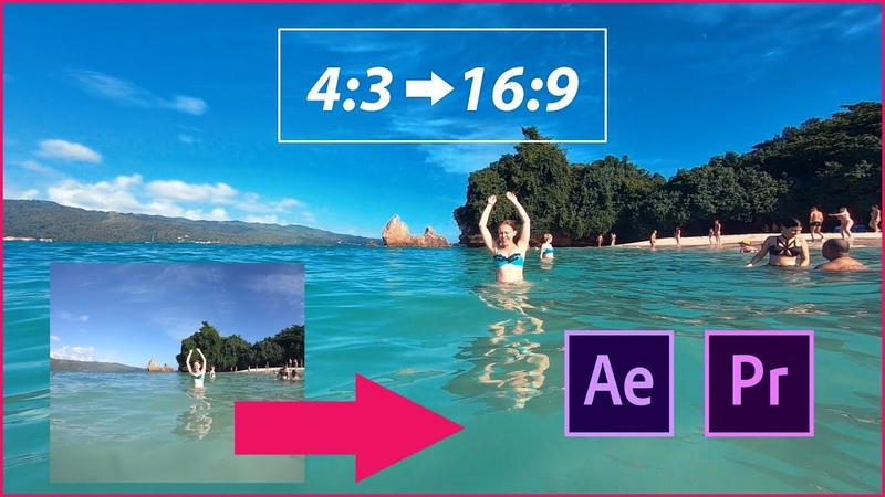Square video (43) convert to Widescreen (169) - After Effects Premiere Pro