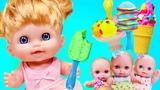 Играем в Куклы-Пупсики кушают мороженное из Плей ДоЛепим из пластилина-видео для девочекЗырики ТВ