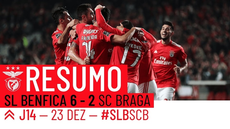 HIGHLIGHTS SL Benfica 6-2 SC Braga