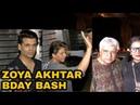 Karan Johar, SRK, Javed Akhtar Shabana Azmi at Zoya Akhtar Bday Party