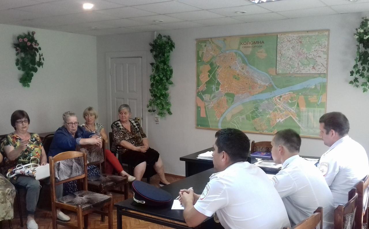 В г.о. Коломна прошли отчеты участковых уполномоченных полиции перед населением по итогам работы за 1 полугодие 2018 года