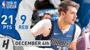 Luka Doncic Full Highlights Mavericks vs Trail Blazers 2018.12.04 - 21 Pts, 9 Reb
