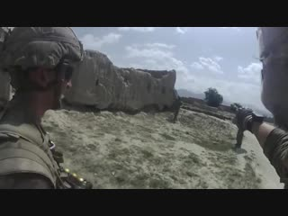 Mk14 firefight in afghanistan on helmet cam