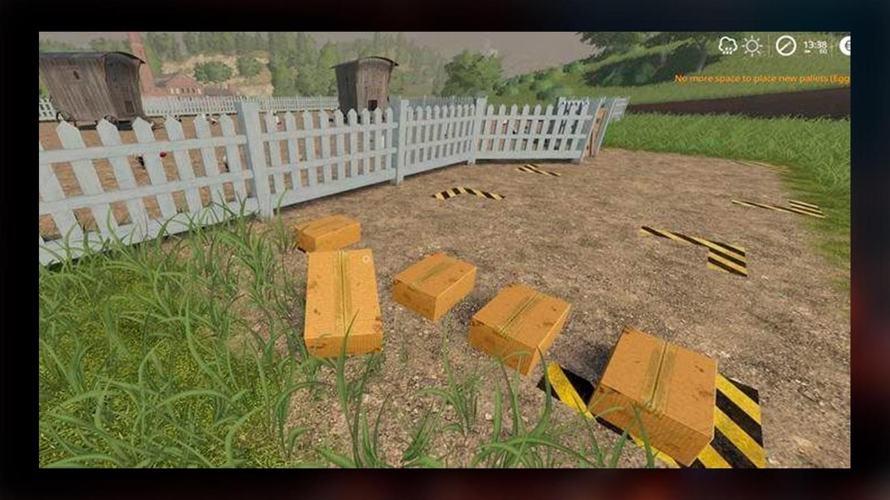 коробка с куриными яйцами в Farming Simulator 19