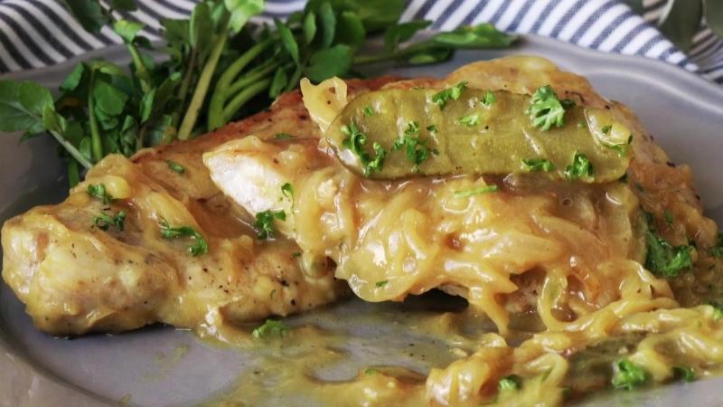 Свинина с горчично-уксусном соусом (pork-loins-with-mustard-vinegar-sauce )