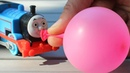 Learn and play with Balloons and Thomas and Friends Toys for children
