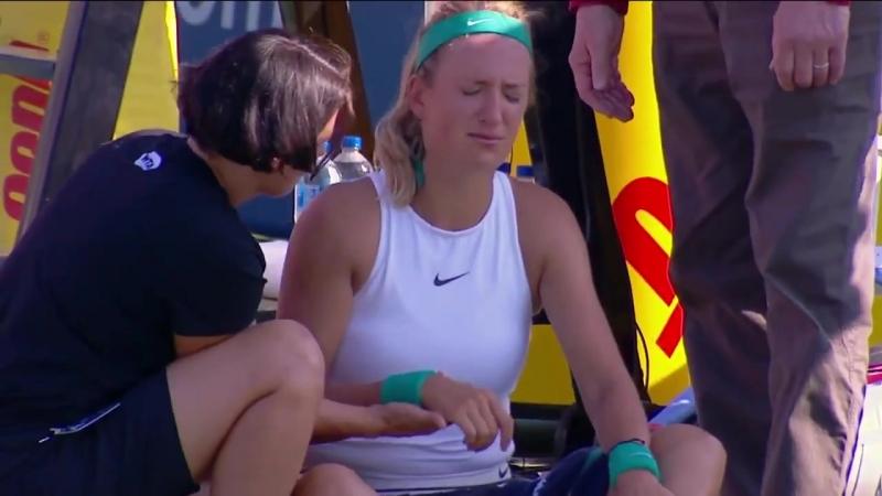 Травма не позволила Виктории доиграть матч...