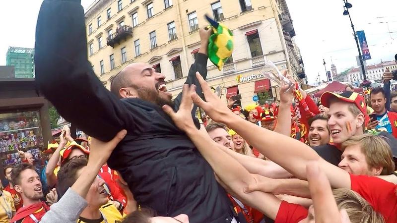 Болельщики на ЧМ 2018. Болельщики Бельгии Les supporters de léquipe nationale belge