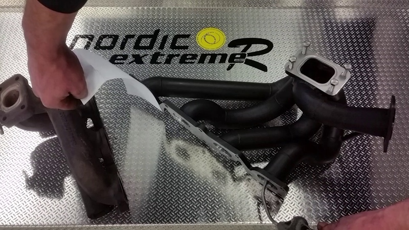 Nordic custom Xtractor manifold vs Stock Saab.