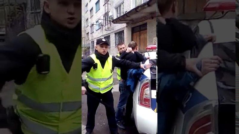 провокатор сумы нацполиция ! БЕСПРЕДЕЛ Новая полиция Украины