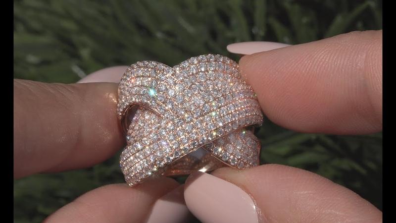 Certified Diamond Cocktail Bridge Ring 2.33 tcw VS 14k Rose Gold - C1014