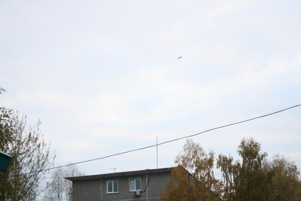 Истребитель над Нижним  октябрь 2017