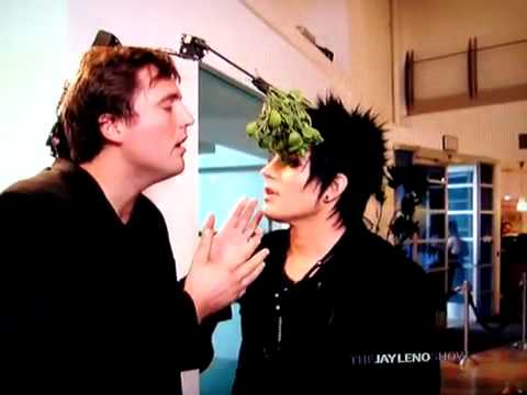 Adam Lambert Jay Leno Mistletoe Skit