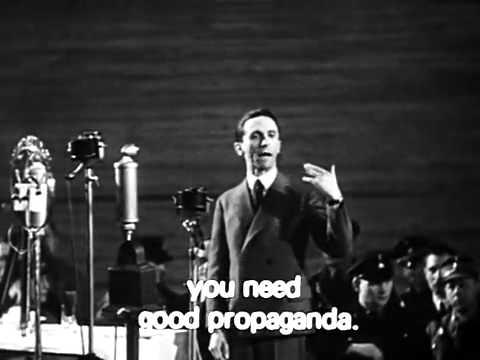 Йозеф Геббельс о Пропаганде
