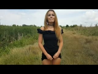 Выебал на природе в деревне - bellabluee-quicky public sex in nature hot cumshot