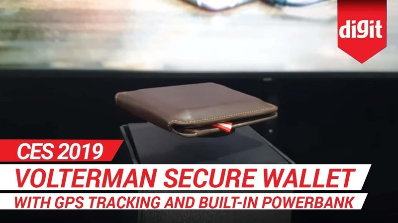 CES 2019 Volterman Secure Wallet with GPS Tracking and built-in Powerbank | Digit.in