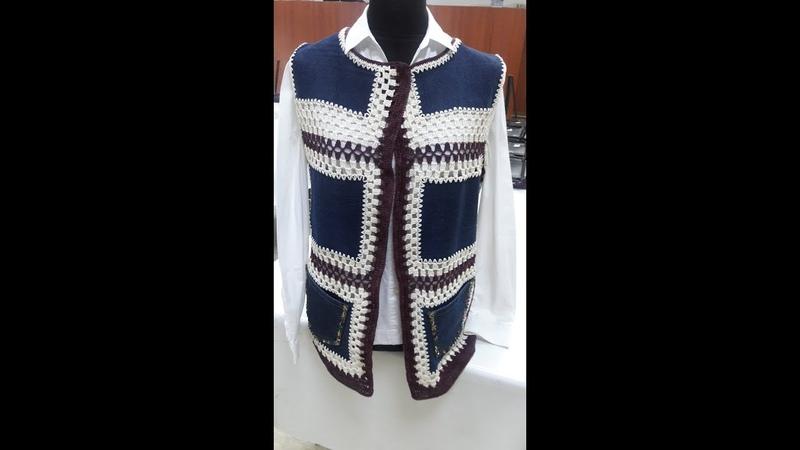 Eski Kot Pantolondan Bayan Yelek Yapımı.( Baştan sona anlatımlı ) Womens Vest Made inJeans Pantolon