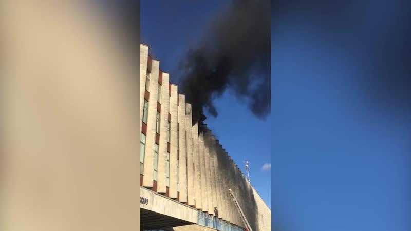 Пожар в здании «Ростелекома» в Петербурге (19.10.2018)