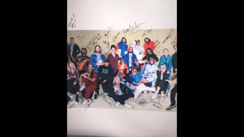 Billie pictured with everyone on the 2019 groovinthemoo lineup