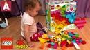 Конструктор LEGO DUPLO Мои первые кубики 10848 обзор и распаковка Лего Дупло 80 деталей My First Bri