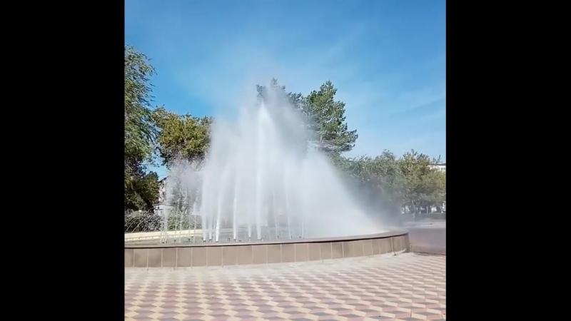 Новый фонтан в Лисаковске